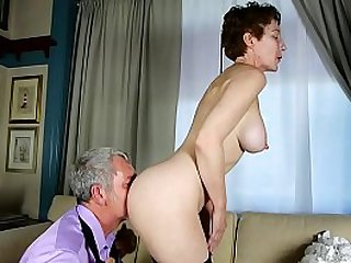 Super sexy old spunker sucks fucks for a mouthful of cum