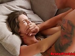 Amateur 18yo roughfucked before facial