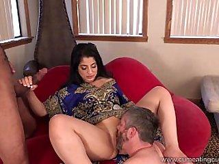 Cum Eating Cuckolds Cuckold watches Nadia Ali go black