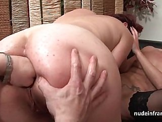 FFM French milfs ass fucked and pussies fist fucked in threeway
