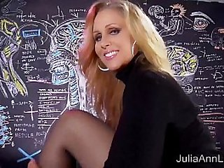 Sexy Milf Julia Ann Sweater Strip Tease Solo!