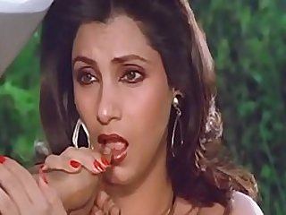 Sexy Indian Actress Dimple Kapadia Sucking Thumb lustfully Like big mamba Cock