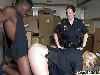 Black thief didnt expect getting this from naughty police officers