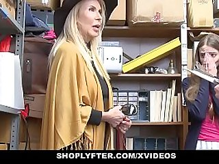 ShopLyfter Granddaughter And Grandmother Duo Fuck LP Officer After Getting Cau