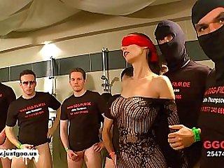 German Goo Girls Blindfolded MILF gangbang