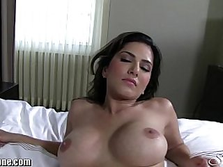 Sunny Leone at a luxuruous hotel in white lingerie