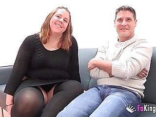 A chubby couple from to their first time porn scene. My God, I am so wet