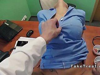 Doctor finally fucks busty nurse pov