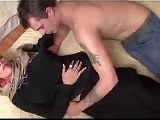 Hijab girl first porno shoot