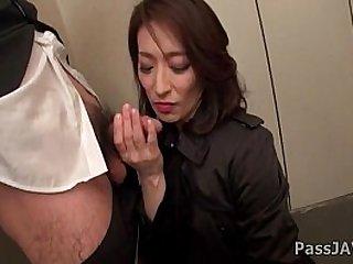 Mature slut lady Marina Matsumoto goes nasty at the office