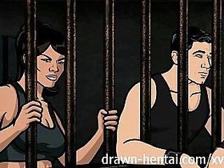 Archer Hentai Jail sex with Lana