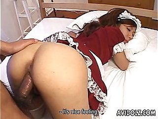 Hot and sexy maid with nipples getting fucked raw