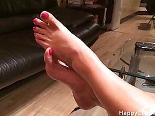 Erotic barefoot play by my mom