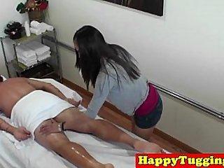 Asian masseuse on spycam caught