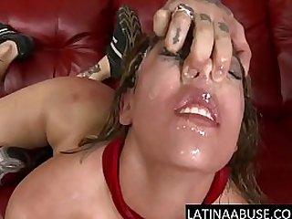 Throat massacre for hot Latina Pornstar