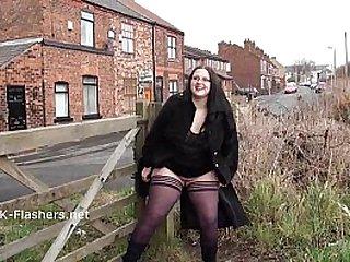 Emmas bbw flashing and amateur public nudity of masturbating girl next door solo