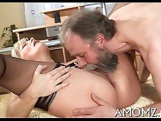 Older hottie goes wild in sex