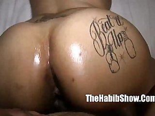 light skinned thick booty fucking in the trap