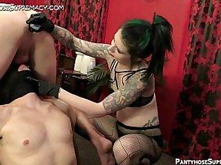 Femdom Mistress Eden bisex male slave domination