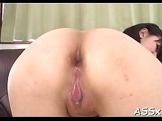 Coarse anal from cute oriental