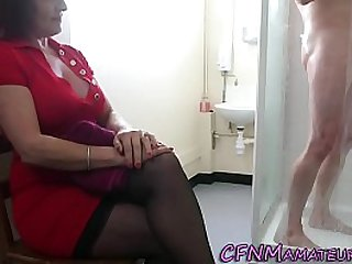 Spying cfnm mature lady