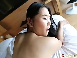 Chinese porn slut gets surprised by super fans skilled white cock