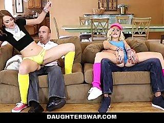 DaughterSwap SluttyTeen Girls getting Fucked Before Rave