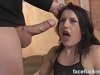 Fallon West face fucked, gets anal and roughed up big time