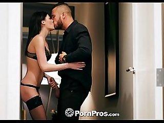 Romantic dinner turns into dick sucking fuck with Jessica Rex