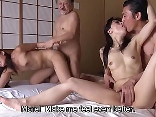 Wife swapping with horny mature Japanese women Subtitles